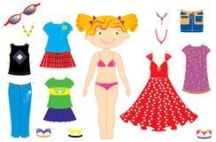 Menina e roupa ilustração royalty free