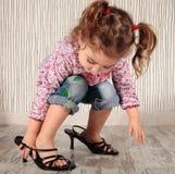 Menina e saltos Fotografia de Stock