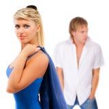 Menina e seu amado Imagens de Stock Royalty Free