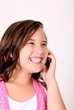 Menina e telefone fotografia de stock royalty free