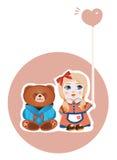 Menina e urso Imagem de Stock Royalty Free
