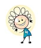 Menina elétrica da garatuja ilustração stock