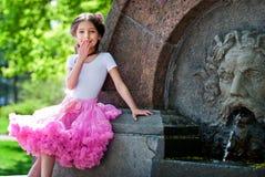 Menina elegante com Foto de Stock Royalty Free