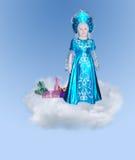 Menina elegante pequena em uma nuvem Imagem de Stock Royalty Free