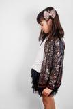Menina elegante pronta para o partido Imagem de Stock Royalty Free