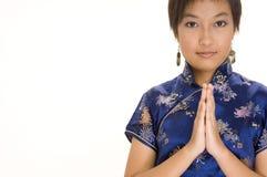 Menina em Cheong Sam 2 Foto de Stock Royalty Free