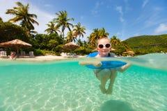 Menina em férias Foto de Stock Royalty Free
