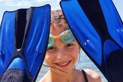 Menina em férias Fotografia de Stock Royalty Free