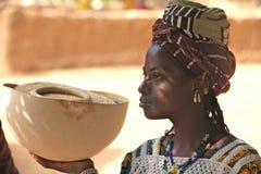 Menina em África Fotos de Stock Royalty Free