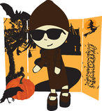 Menina em Halloween Imagem de Stock Royalty Free