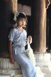 Menina em Myanmar foto de stock royalty free
