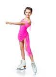 Menina em patins Fotos de Stock Royalty Free