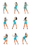 Menina em poses diferentes Fotografia de Stock