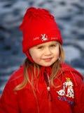 MENINA EM RED HAT Imagens de Stock Royalty Free