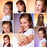 Menina em seu primeiro dia do comunhão Imagens de Stock