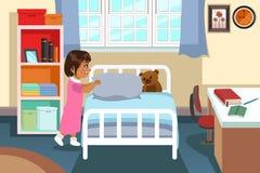 Menina em seu quarto Imagens de Stock
