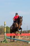 Menina em um cavalo Imagem de Stock