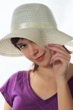 Menina em um chapéu Imagens de Stock Royalty Free