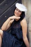 A menina em um chapéu Fotografia de Stock Royalty Free