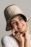 Menina em um chapéu de cowboy imagem de stock royalty free