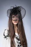 Menina em um chapéu bonito fotografia de stock