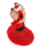 A menina em um espanhol vermelho Foto de Stock Royalty Free