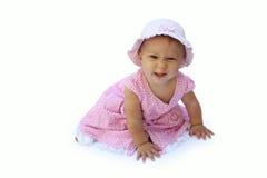 Menina em um fundo branco Fotografia de Stock