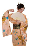 A menina em um quimono Fotografia de Stock Royalty Free