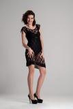 Menina em um sorriso transparente do vestido e do corpo Fotos de Stock Royalty Free