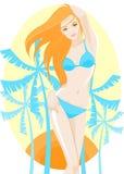 Menina em um swimsuit Fotos de Stock Royalty Free
