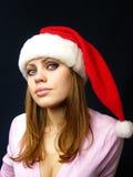 Menina em um tampão de ano novo Imagem de Stock