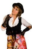 Menina em um traje Imagens de Stock Royalty Free