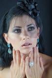Menina em um véu preto Imagem de Stock Royalty Free