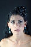 Menina em um véu preto Imagens de Stock