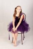 Menina em um vestido bonito Imagem de Stock Royalty Free
