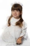 A menina em um vestido branco Fotos de Stock Royalty Free