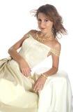 A menina em um vestido de noite Imagens de Stock Royalty Free