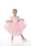 Menina em um vestido elegante cor-de-rosa. Fotografia de Stock Royalty Free