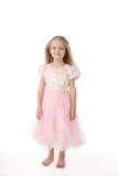 Menina em um vestido elegante cor-de-rosa Imagem de Stock Royalty Free