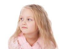 Menina em um vestido elegante cor-de-rosa. Fotografia de Stock