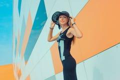 Menina em um vestido longo Fotos de Stock Royalty Free