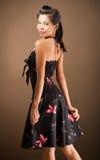 Menina em um vestido 'sexy' Imagem de Stock Royalty Free