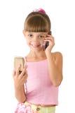 A menina em uma blusa cor-de-rosa Imagem de Stock Royalty Free
