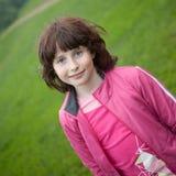 Menina em uma caminhada Imagem de Stock