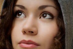 Menina em uma capa Fotos de Stock