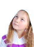 A menina em uma capa Fotos de Stock Royalty Free