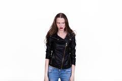 Menina em uma fúria Imagem de Stock Royalty Free