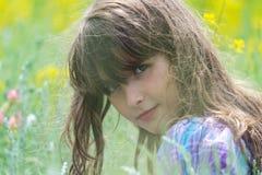 Menina em uma natureza Imagem de Stock
