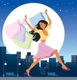 Menina em vendas ilustração royalty free