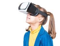 Menina em vidros de VR Imagens de Stock Royalty Free